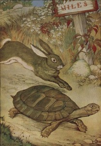 short story about a tortoise and hare