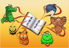animals surrounding a dictionary