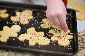sprinkles being added to cookies