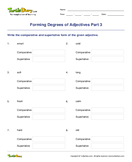 Forming Degrees of Adjectives Part 3 - adjectives - Fifth Grade