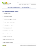 Identifying Adjective in a Sentence Part 1