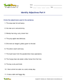 Identify Adjectives Part 4 - adjectives - First Grade