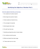 Identifying the Adjective of Number Part 3 - adjectives - Fifth Grade