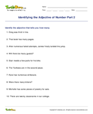 Identifying the Adjective of Number Part 2 - adjectives - Fourth Grade