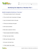Identifying the Adjective of Number Part 1 - adjectives - Third Grade