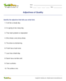 Adjectives of Quality - adjectives - Fourth Grade