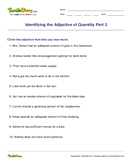 Identifying the Adjective of Quantity Part 3 - adjectives - Fifth Grade