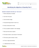 Identifying the Adjective of Quantity Part 1 - adjectives - Third Grade