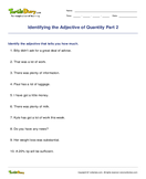 Identifying the Adjective of Quantity Part 2 - adjectives - Fourth Grade