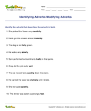 Identifying Adverbs Modifying Adverbs - adverbs - Fourth Grade