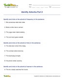 Identify Adverbs Part 2 - parts-of-speech - Third Grade
