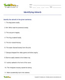 Identifying Adverb - adverbs - Second Grade