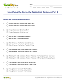 Identifying the Correctly Capitalized Sentence Part 2 - capitalization - Second Grade