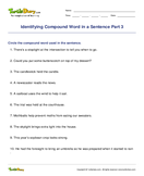 Identifying Compound Word in a Sentence Part 3 - compound-words - Fourth Grade