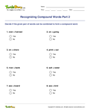 Recognizing Compound Words Part 2 - compound-words - Fourth Grade