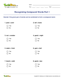 Recognizing Compound Words Part 1 - compound-words - Third Grade