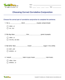 Choosing Correct Correlative Conjunction - conjunction - Fifth Grade