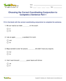 Choosing the Correct Coordinating Conjunction to Complete a Sentence Part 1 - conjunction - Second Grade