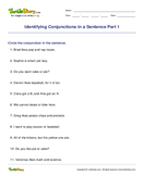 Identifying Conjunctions in a Sentence Part 1 - conjunction - First Grade