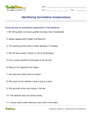 Identifying Correlative Conjunctions - conjunction - Fifth Grade