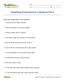 Identifying Conjunctions in a Sentence Part 2 - conjunction - Second Grade