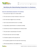 Identifying the Subordinating Conjunction in a Sentence - conjunction - Second Grade