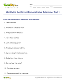Identifying the Correct Demonstrative Determiner Part 1 - determiners - First Grade