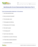 Identifying the Correct Demonstrative Determiner Part 2 - determiners - Second Grade