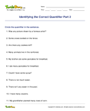 Identifying the Correct Quantifier Part 2 - determiners - Second Grade