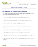 Identifying Idiomatic Phrase - idioms-proverbs - Fourth Grade