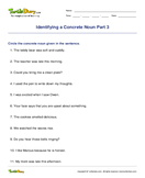 Identifying a Concrete Noun Part 3 - noun - Fifth Grade