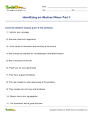 Identifying an Abstract Noun Part 1 - noun - Third Grade