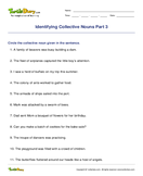 Identifying Collective Nouns Part 3 - noun - Fifth Grade