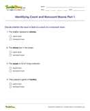 Identifying Count and Noncount Nouns Part 1 - noun - Third Grade