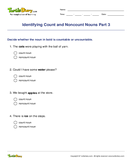 Identifying Count and Noncount Nouns Part 3 - noun - Fifth Grade