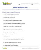 Identify Adjectives Part 3 - parts-of-speech - Fourth Grade