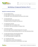 Identifying a Compound Sentence Part 3 - sentences - Third Grade
