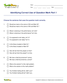 Identifying Correct Use of Question Mark Part 1 - sentences - Third Grade
