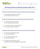 Identifying Sentences Needing Question Mark Part 1 - sentences - Third Grade