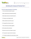 Identifying the Compound Predicate Part 1 - sentences - Third Grade