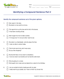Identifying a Compound Sentence Part 2 - sentences - Second Grade