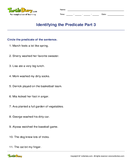 Identifying the Predicate Part 3 - sentences - Fifth Grade