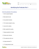 Identifying the Predicate Part 1 - sentences - Third Grade