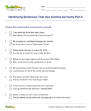 Identifying Sentences That Use Comma Correctly Part 4 - sentences - Fifth Grade