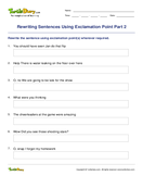Rewriting Sentences Using Exclamation Point Part 2 - sentences - Fifth Grade