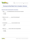Choosing the Best Modal Verb to Complete a Sentence