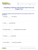Completing a Sentence with the Past Tense Form of an Irregular Verb