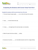 Completing the Sentence with Correct Tense Form Part 1 - verb - Third Grade