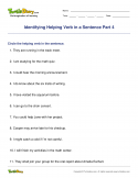 Identifying Helping Verb in a Sentence Part 4 - verb - Fifth Grade