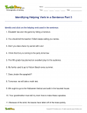 Identifying Helping Verb in a Sentence Part 3 - verb - Fourth Grade